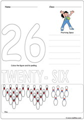 Number 26 Worksheet