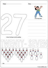 Number 27 Worksheet