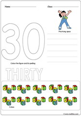 Number 30 Worksheet