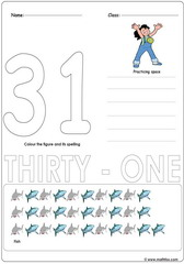 Number 31 Worksheet