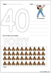 Number 40 Worksheet
