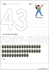 Number 43 Worksheet