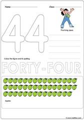 Number 44 Worksheet