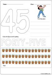 Number 45 Worksheet