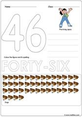 Number 46 Worksheet
