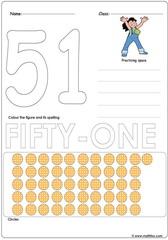 Number 51 Worksheet