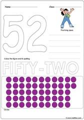 Number 52 Worksheet