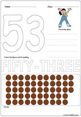 Number 53 Worksheet
