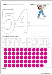 Number 54 Worksheet
