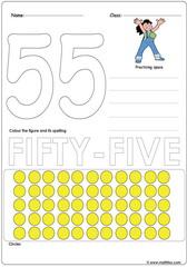 Number 55 Worksheet
