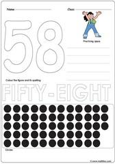 Number 58 Worksheet
