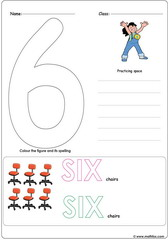 Number 6 Worksheet