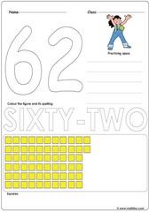 Number 62 Worksheet