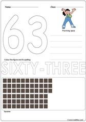 Number 63 Worksheet