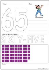 Number 65 Worksheet