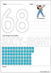 Number 68 Worksheet