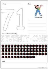 Number 71 Worksheet