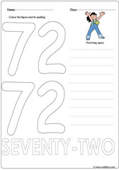 Number 72 Worksheet