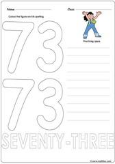 Number 73 Worksheet