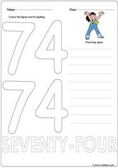 Number 74 Worksheet