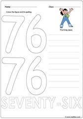 Number 76 Worksheet