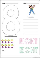 Number 8 Worksheet