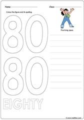 Number 80 Worksheet