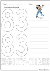 Number 83 Worksheet