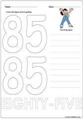 Number 85 Worksheet