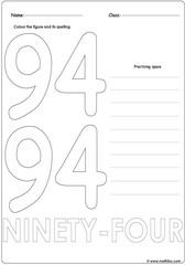 Number 94 Worksheet