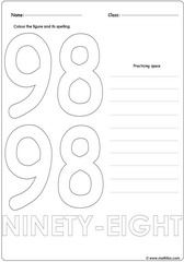 Number 98 Worksheet