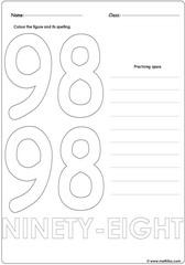 Number 98 Worksheet