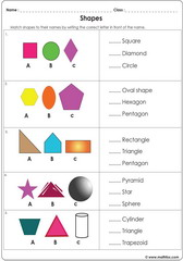 Shapes worksheets