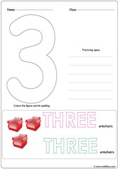 Number 3 Worksheet