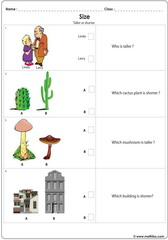 Tall Short worksheet